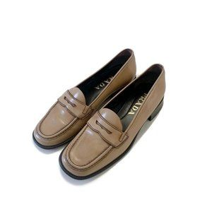 Prada Vintage Patent Leather Low Heel Loafer